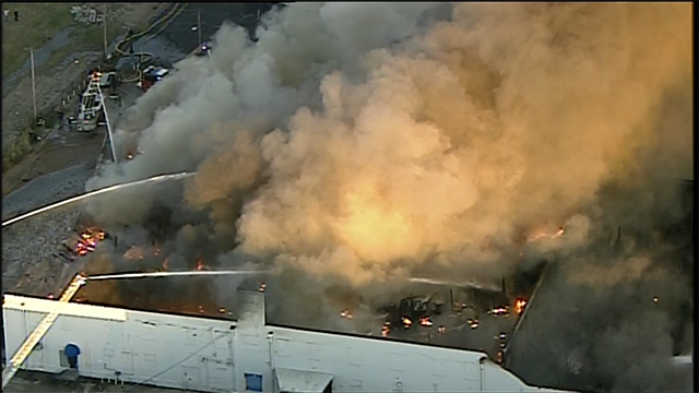 Firefighters Battle 5-Alarm Warehouse Fire in South City