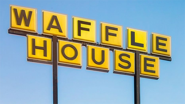 Customer cooks own meal at Waffle House as worker sleep