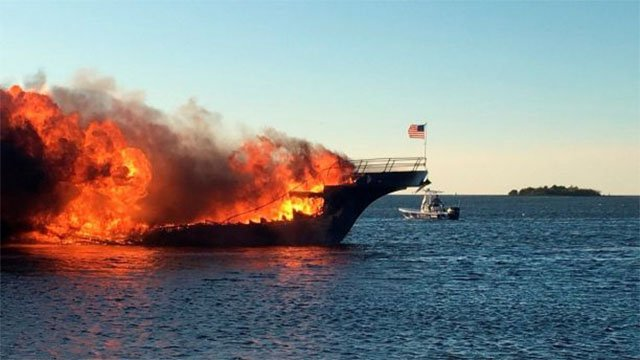 Crews rescue passengers after casino boat catches fire