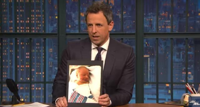 Seth Meyers' Wife Gave Birth in the Lobby of Their Apartment